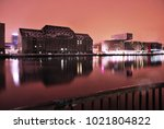 friedrichshain by night  spree... | Shutterstock . vector #1021804822