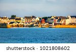 beautiful colored image of port ... | Shutterstock . vector #1021808602