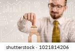 young handsome businessman...   Shutterstock . vector #1021814206