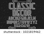 vintage font typeface... | Shutterstock .eps vector #1021819462