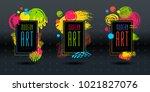 modern art brush stroke frame... | Shutterstock .eps vector #1021827076