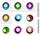 set of abstract swirls. vector... | Shutterstock .eps vector #1021830922