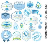 set of water labels | Shutterstock .eps vector #102183532