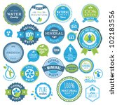 set of water badges and stickers | Shutterstock .eps vector #102183556