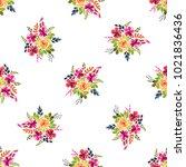 floral seamless pattern.... | Shutterstock . vector #1021836436