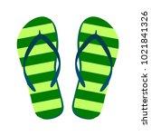 flip flops isolate on a white... | Shutterstock .eps vector #1021841326