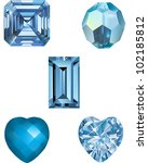 a collection of aquamarine... | Shutterstock .eps vector #102185812