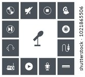 set of 13 editable song icons....