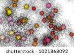 light colored vector cover with ... | Shutterstock .eps vector #1021868092