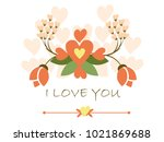 card greeting for valentine. | Shutterstock .eps vector #1021869688