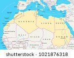 north africa region  political... | Shutterstock .eps vector #1021876318