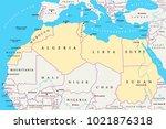 north africa region  political... | Shutterstock .eps vector #1021876318