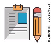 paper document with pencil | Shutterstock .eps vector #1021879885