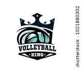 king vooleball ball logo   Shutterstock .eps vector #1021880302