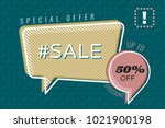 hashtag sale special offer 50   ... | Shutterstock .eps vector #1021900198