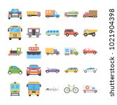creative flat icons set of... | Shutterstock .eps vector #1021904398