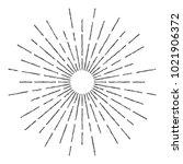 vintage sunburst design vector... | Shutterstock .eps vector #1021906372