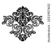 vector vintage baroque card.... | Shutterstock .eps vector #1021907602