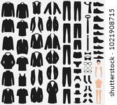 set of man fashion. clothes... | Shutterstock .eps vector #1021908715