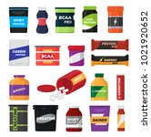 bodybuilding fitness nutrition...   Shutterstock .eps vector #1021920652