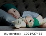 Patient Kid Lie Down On Couch...