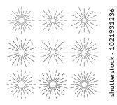 vintage sunburst design vector... | Shutterstock .eps vector #1021931236