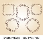 vector retro frames .vector... | Shutterstock .eps vector #1021933702