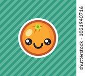cute kawaii smiling orange...   Shutterstock .eps vector #1021940716