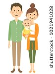young couple and baby | Shutterstock .eps vector #1021941028