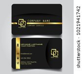 premium gold black name card... | Shutterstock .eps vector #1021941742