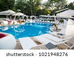 interior of summer club. hotel... | Shutterstock . vector #1021948276