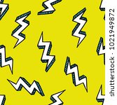 lightning seamless doodle... | Shutterstock .eps vector #1021949872