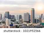 beautiful cityscape with... | Shutterstock . vector #1021952566