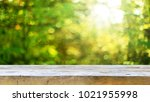 empty wooden table background | Shutterstock . vector #1021955998