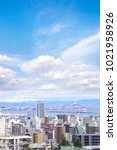 cityscapes of kobe city with... | Shutterstock . vector #1021958926