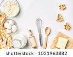 objects and ingredients for... | Shutterstock . vector #1021963882