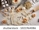 Baking Concept  Raw Dough For...