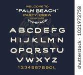 original handmade alphabet.... | Shutterstock .eps vector #1021973758