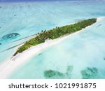 aerial view of tropical... | Shutterstock . vector #1021991875