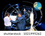 space ship technology 3d... | Shutterstock . vector #1021995262