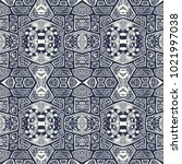 abstract handmade ethno zen... | Shutterstock .eps vector #1021997038
