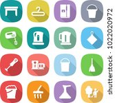 flat vector icon set   table... | Shutterstock .eps vector #1022020972