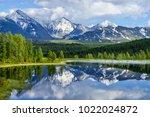wild mountain lake in the altai ... | Shutterstock . vector #1022024872