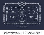 nautical rope knots and frames...   Shutterstock .eps vector #1022028706