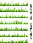 green grass decorative elements.... | Shutterstock .eps vector #1022031085