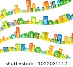 cityscape colorful decorations. ... | Shutterstock .eps vector #1022031112