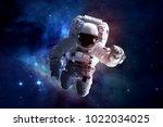astronaut   elements of this... | Shutterstock . vector #1022034025
