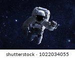 astronaut   elements of this... | Shutterstock . vector #1022034055