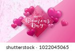 happy women's day. 8 march... | Shutterstock .eps vector #1022045065