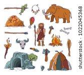 primitive people vector... | Shutterstock .eps vector #1022045368